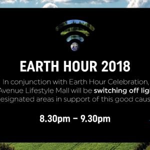 Star Avenue Earth Hour 2018