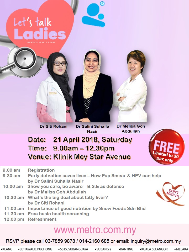 Let's talk Ladies – Women Health Event