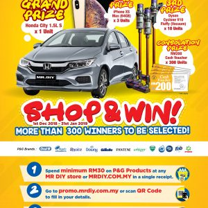 MR.D.I.Y. x P&G SHOP AND WIN CONTEST