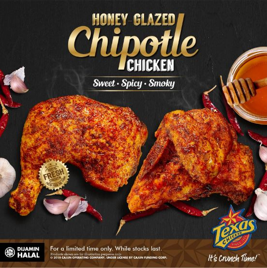 TEXAS HONEY GLAZED CHIPOTLE CHICKEN